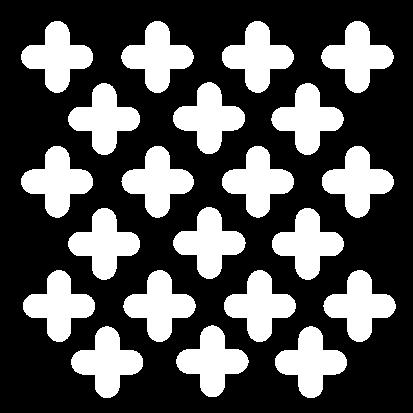 rounded cross like decorative perforation metal perforacija metala